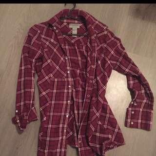 Plaid Long Sleeve Shirt (medium)