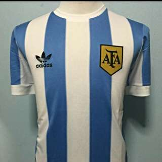 Argentina Retro Jersey. 1978 Worl Cup Size Small