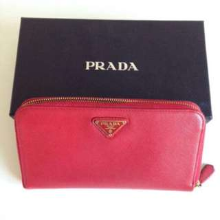 Prada Red Wallet