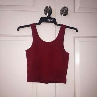 Mooloola Red Crop Top