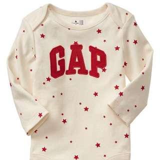 NEW Baby Gap Print Arch Logo Bodysuit