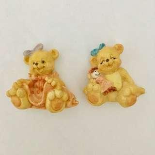 Set of 2 Bear Magnets