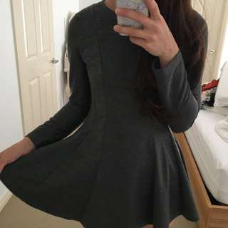 Grey Melange Dress