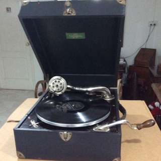 Antique Portable Columbia Grammaphone