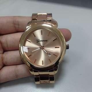 [二手]玫瑰金 大錶面 女錶