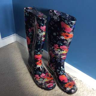 Floral Gumboots