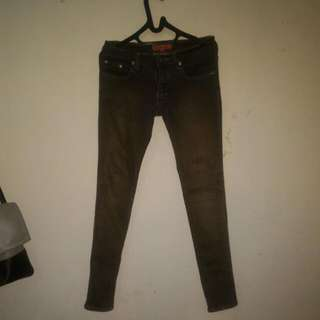 Cardinal Ladies Brown Jeans Size 31