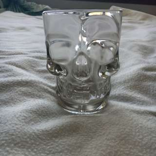 Glass Skull Mug