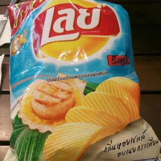 Thailand Lays Scallop Butter Chips 105g