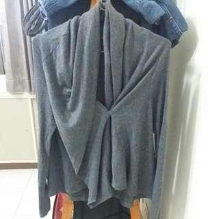 不規則灰色外套