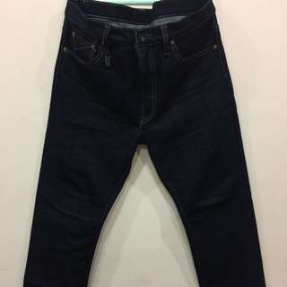 DISCOUNT RM170 NOW RM530 FROM RM700. Sage W38L32 23oz Heavyduty Unsanforized Deep Indigo Jeans