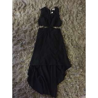 Size 8 Black Cut Our Dress