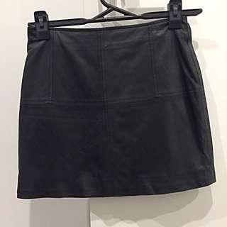 ASOS leather mini skirt