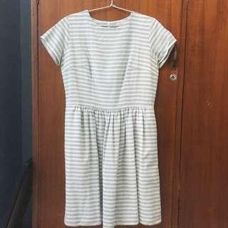 Shop At Velvet Grey Stripes Dress