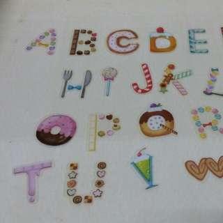 🚚 甜甜圈英文字貼