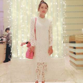 ZOOEY純白蕾絲洋裝