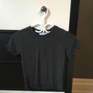 F21 Ruffled Tshirt