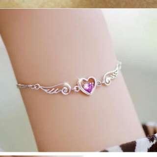 925silver beautiful bracelet jewel wings