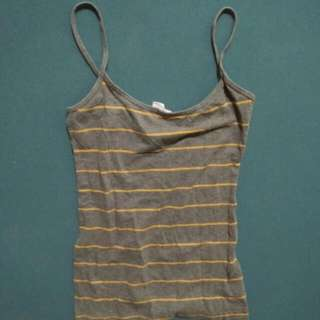 Forever 21 Gray and orange sleeveless Small
