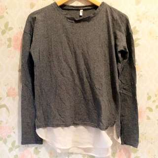 Preloved! Grey Combined Top