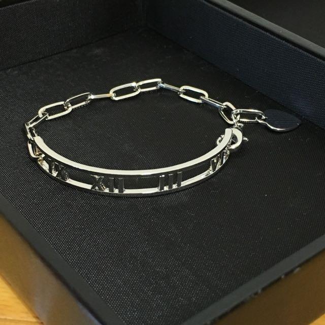 羅馬數字銀色手鍊