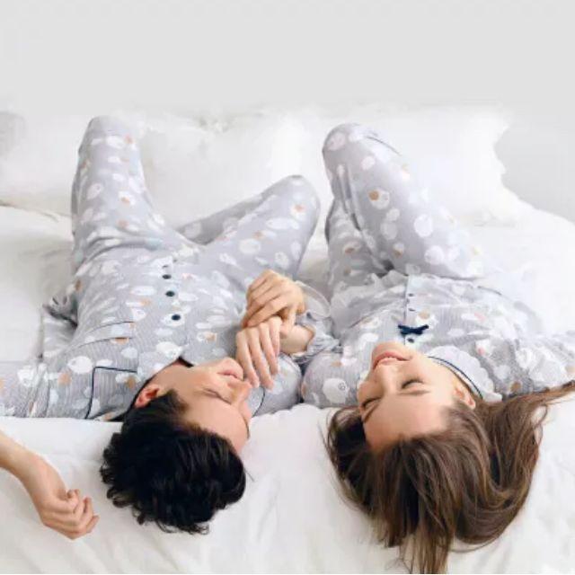 秋季 韓國 綿羊 長袖睡衣 情侶睡衣 居家服 套裝 情人節 禮物 情人必備 男朋友禮物 大尺碼