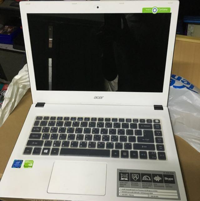 二手好物 筆電 文書 保固中 白 Acer Aspire E 14 E5-432g-p4tk