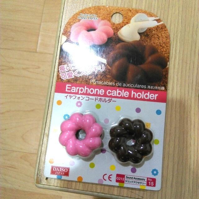 大創 Daiso 甜甜圈耳機捲線器 集線器
