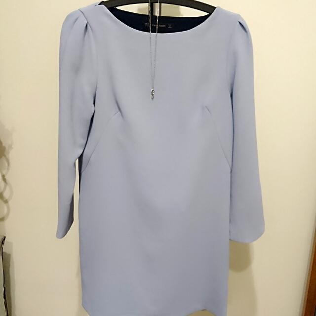 < ZARA > 氣質藍小洋裝