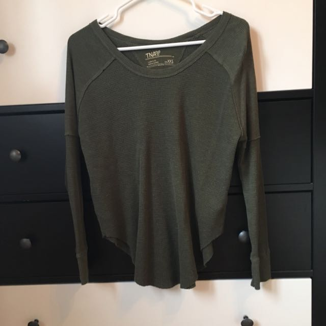 Aritzia Green Sweater