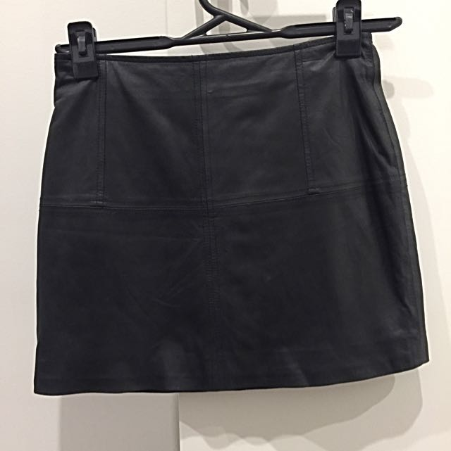 ASOS leather mini skirt