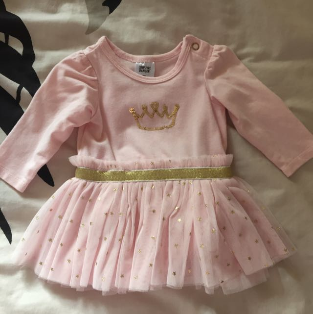 Baby Tulle Dress In Pink Size 000