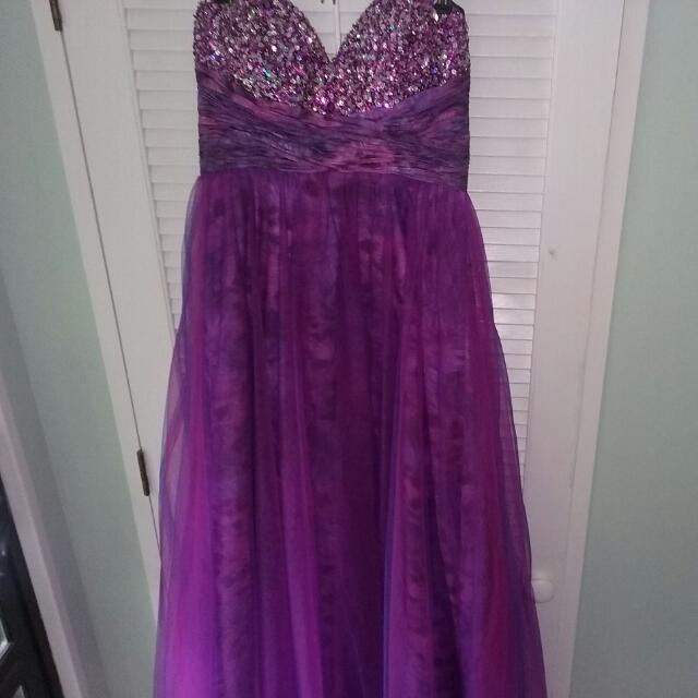 Ball Gown With Leopard Underlay