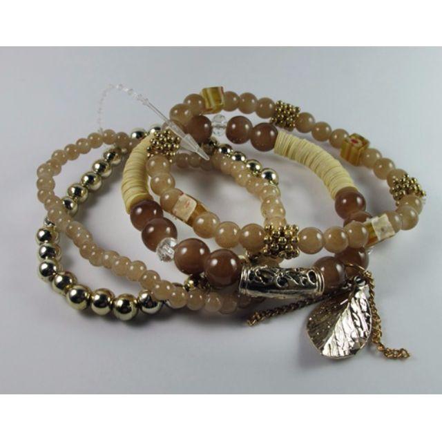 Handmade Earth-Tone Beaded Bracelets