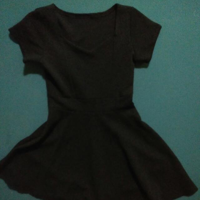 Black korean dress L