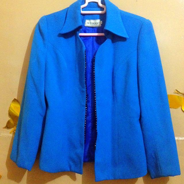 Blue Work Jacket For Women