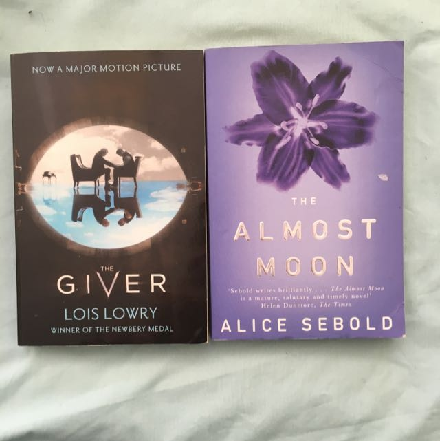 Book Bundle : The Giver By Lois Lowry And The Almost Moon By Alice Sebold