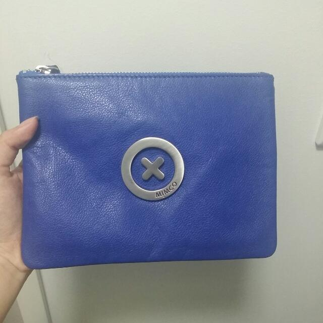 Brand New Mimco Electric Blue Medium Pouch