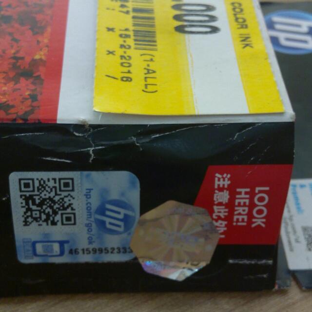 Cartridge Hp 678 Tri Color - Ori - Baru