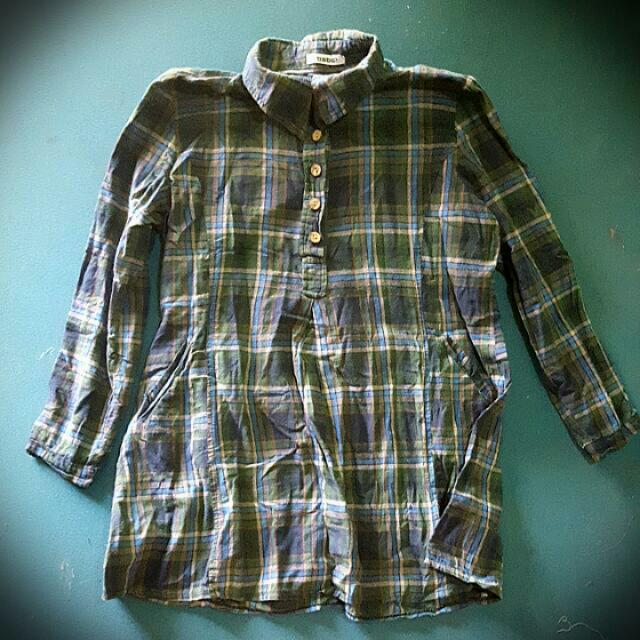 Checkered button down L