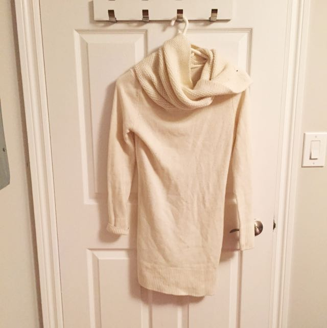Cowl Neck White Sweater