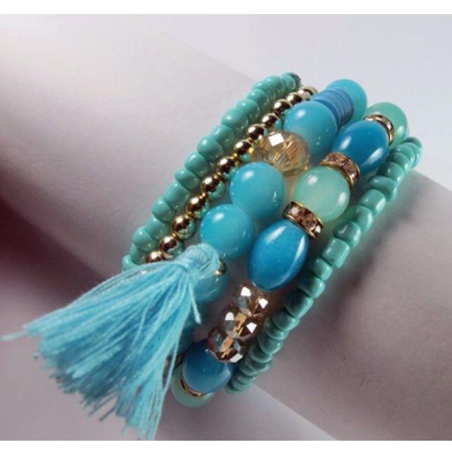 Handmade Turquoise Beaded Bracelets