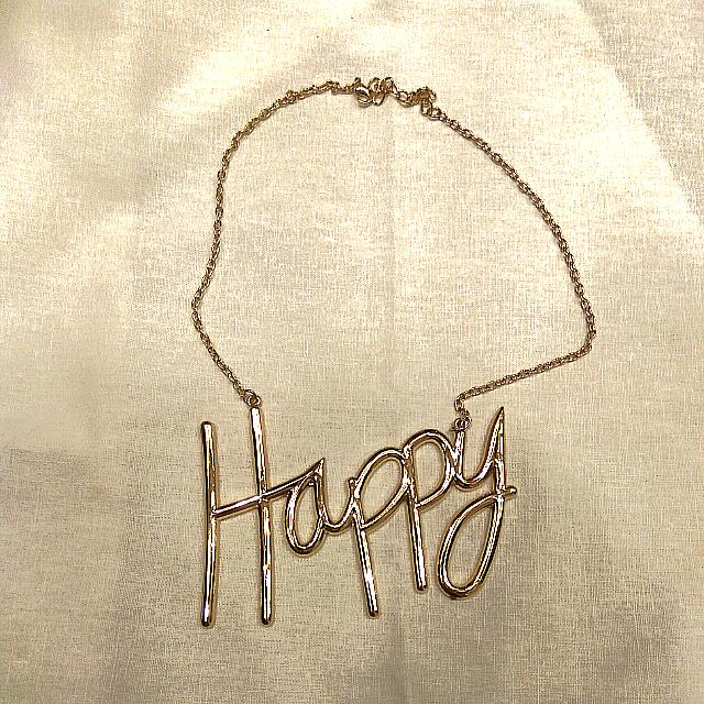 Happy Gold Necklace