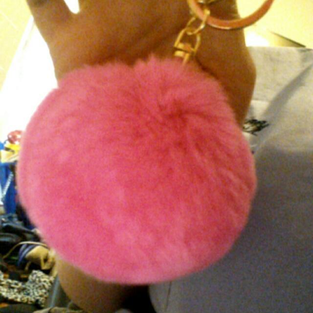 hot pink key ring