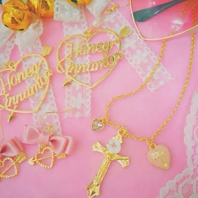 Jesus Cross With Heart Necklace