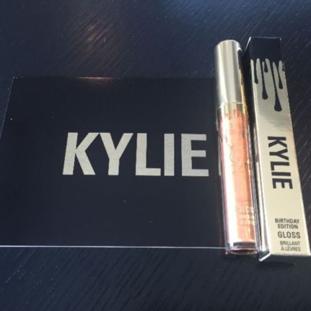 Kylie Jenner -Limited Edition Birthday Makeup Bag + Poppin Gloss