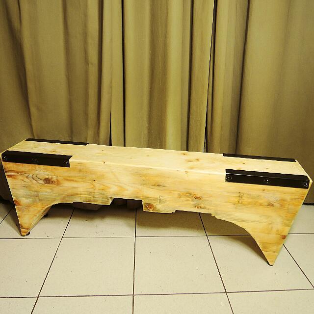 工業風/loft style 鉚釘原木長椅/休閒椅/穿鞋椅/玄關椅/戶外椅 IKEA Zakka