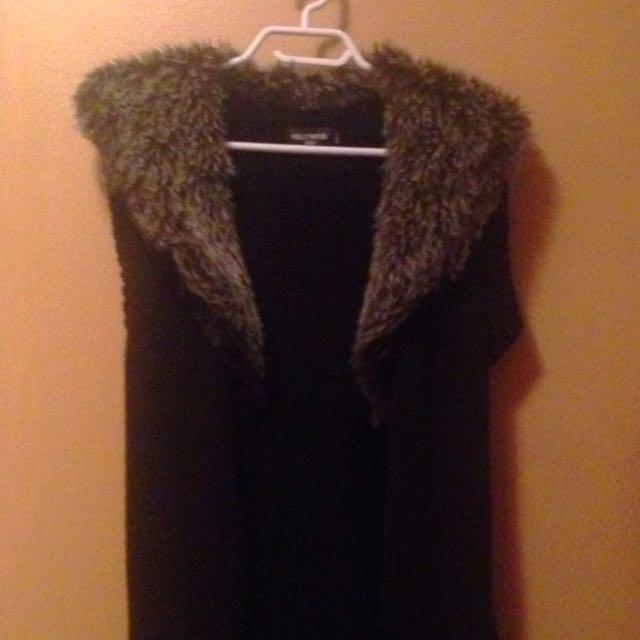 Long Fur Collar Vest