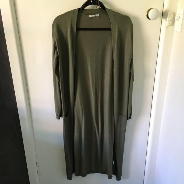 Long Khaki Knit Size S/M
