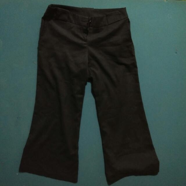 Loose Black Slacks Large
